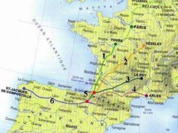 chemin de compostelle carte ign A VTT sur les chemins de Compostelle. Présentation